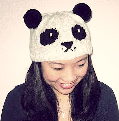 Knit Panda Hat