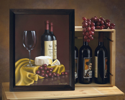 decorative painting wine