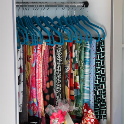 Fabric on clothes hangers