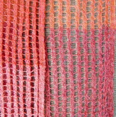 Color-Change Ladder-Lace Scarf Close-Up