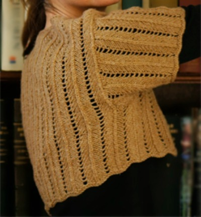 Cashmere Ladder-Lace Shrug