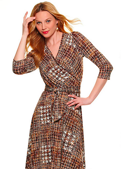 Tie-Waist Wrap Dress