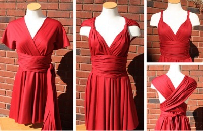 Red Infinity Wrap Dress