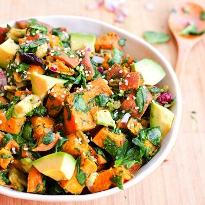 Meatless Monday Recipe, Quick Vegetarian Recipe, Roasted Sweet Potato Salad