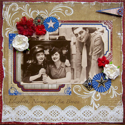 family scrapbook layout