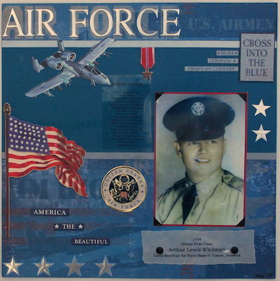 air force scrapbook page