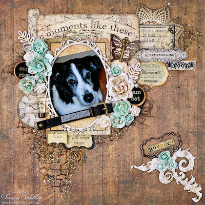family dog scrapbook layout