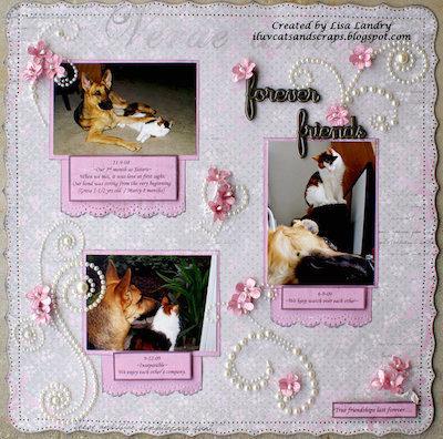 dog memorial scrapbook page
