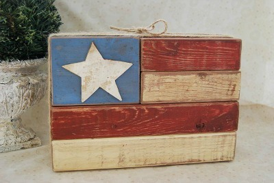 scrap wood US Flag craft