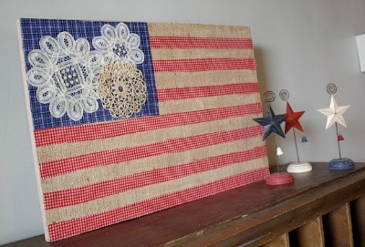 Doily-and-Burlap Flag