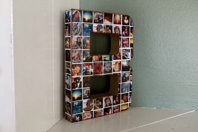 Photo-Collage Wall Initial
