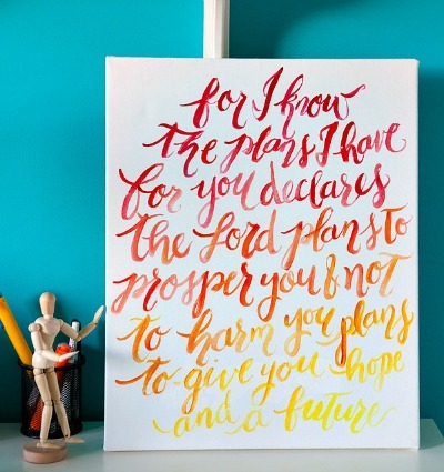 Painted Quote on Canvas