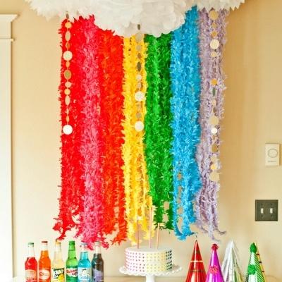Rainbow fringe decoration