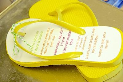flip flop invites