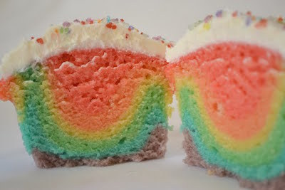 gay pride rainbow cupcakes