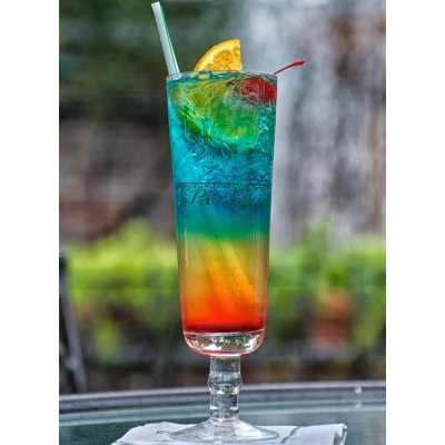 vodka rainbow cocktail