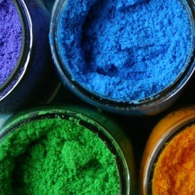 DIY color fight powder