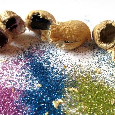 DIY peanut glitter bombs