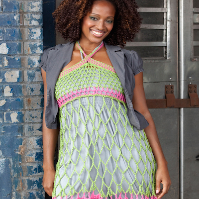 Halter neck crochet cover-up