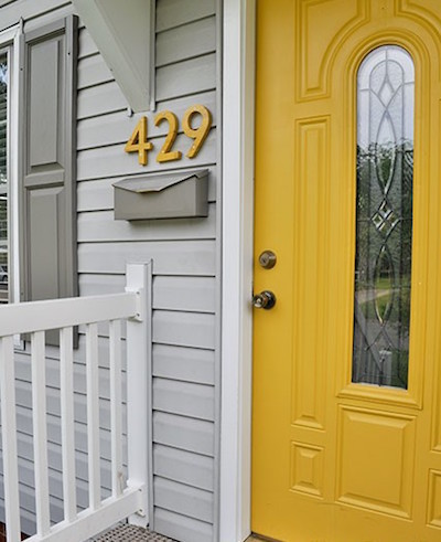diy wood house numbers