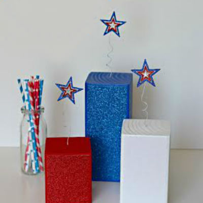 glitter firecracker craft for july fourth