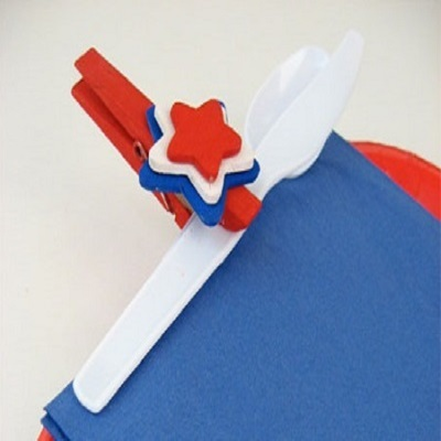table clips for fourth of july