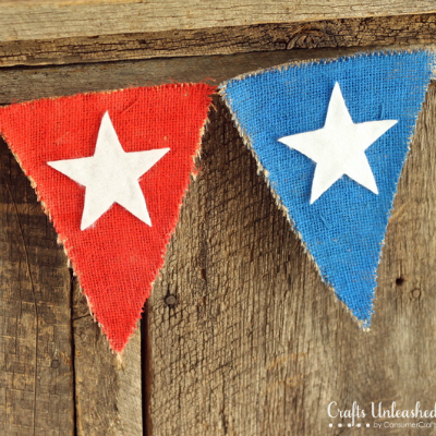 burlap banner for the fourth of july