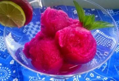 Prickly Pear Sorbet, Dairy Free Homemade Sorbet, Homemade Ice Cream Alternatives
