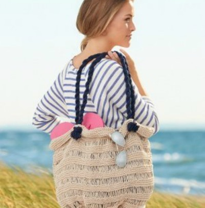 Knitted beach bag pattern