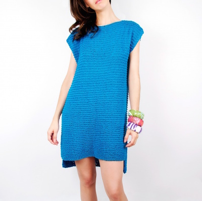 Short sleeve slouchy knit dress pattern