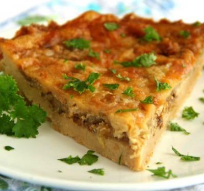 Cheddar and onion pie recipe