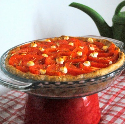 Goat cheese and tomato pie recipe
