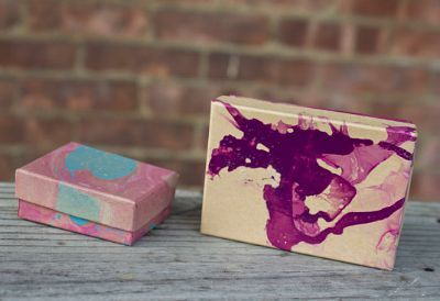 Marbled Jewelry Box, DIY Wrapping Paper, DIY Marbling Crafts