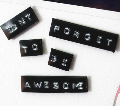 DIY Magnet, DIY Locker Decorations, Label Maker Magnets