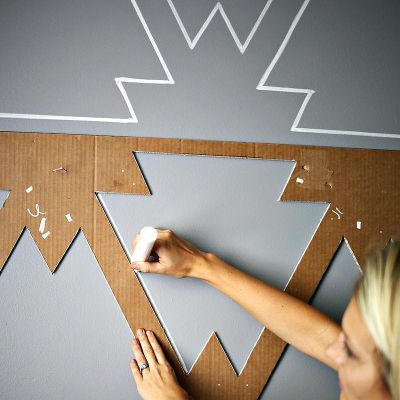 DIY Statement Wall, DIY Paint Wall, DIY Living Room Wall Projects