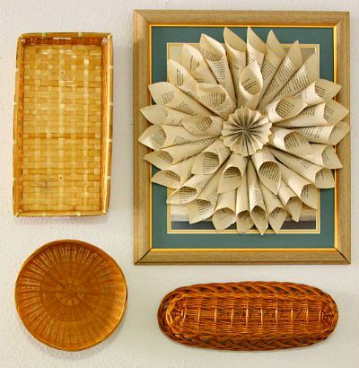 DIY Weekend Project, DIY Book Page Paper Wreath, DIY Living Room Wall Art