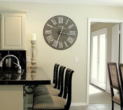 DIY Painted Wall Clock, DIY Weekend Project, DIY Wall Art for Living Rooms