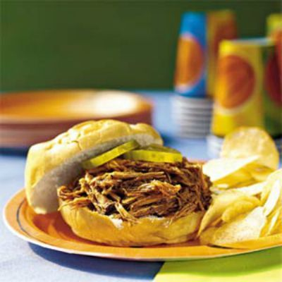 Crock-Pot Barbeque Beef Sandwiches