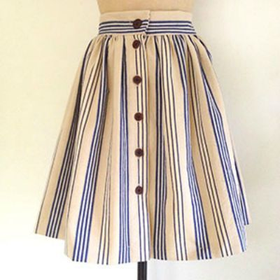Button-Front Skirt Pattern