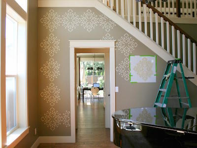 stenciled wall design