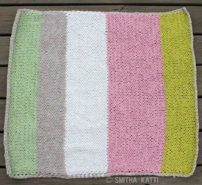 striped baby blanket knitting pattern
