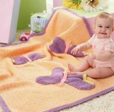 butterfly baby blanket knitting pattern