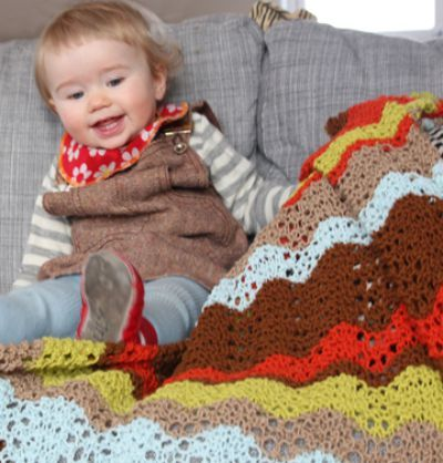 multicolored baby blanket knitting pattern