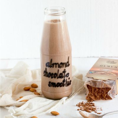 Healthy Chocolate Desserts, Chocolate Almond Milk Smoothie