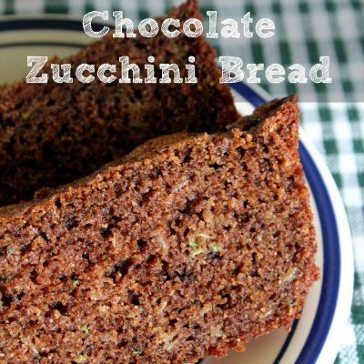 Homemade Chocolate Zucchini Bread, DIY Healthy Chocolate Recipes