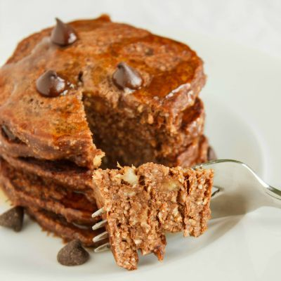Healthy Chocolate Desserts, Homemade Chocolate and Banana Pancakes
