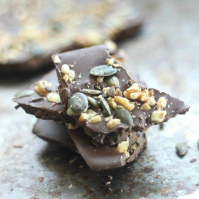 Healthy Chocolate Desserts, Dark Chocolate Nut Bark