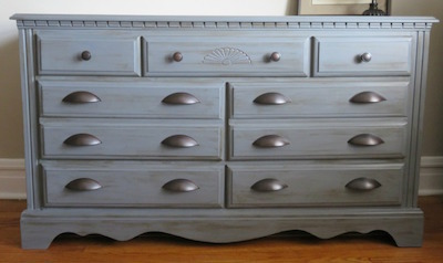 updated dresser chalky finish paint