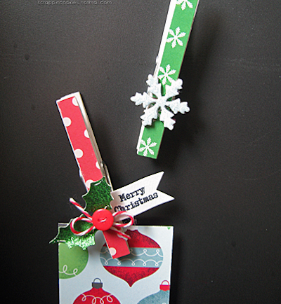 holiday clothespin magnets
