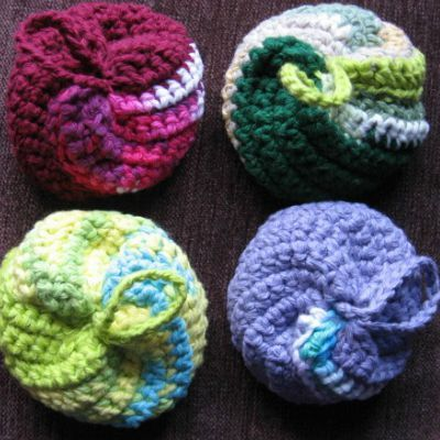 spiral kitchen scrubby crochet pattern